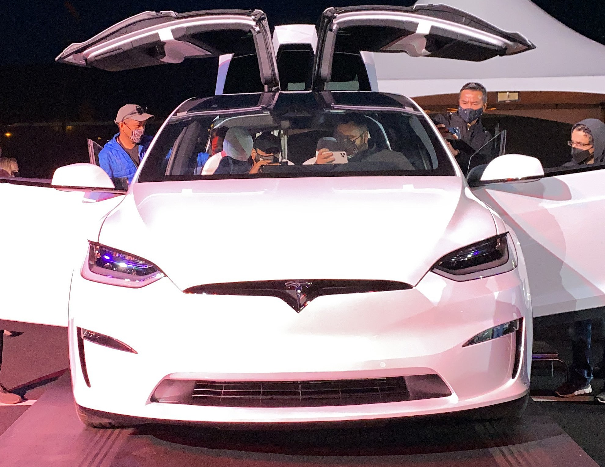Tesla Model X Plaid makes an appearance at Model S Plaid delivery event