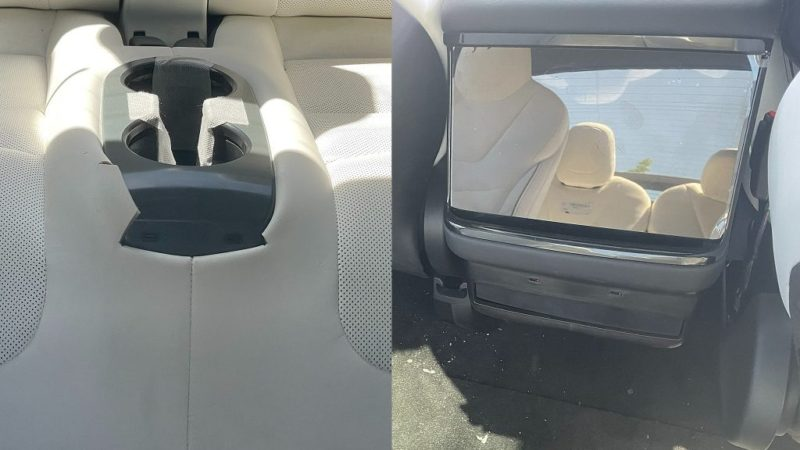 Tesla Model X Plaid interior first look shows sizable rear screen, cool third row toys