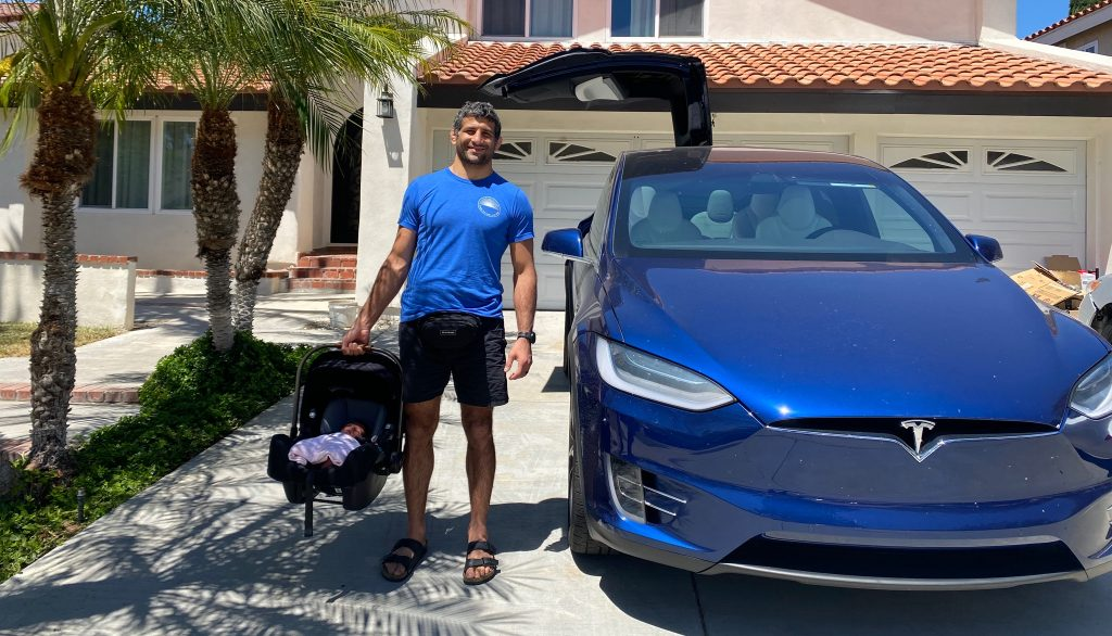 UFC Fighter Beneil Dariush gets his Tesla Model X, and the reason he ordered it