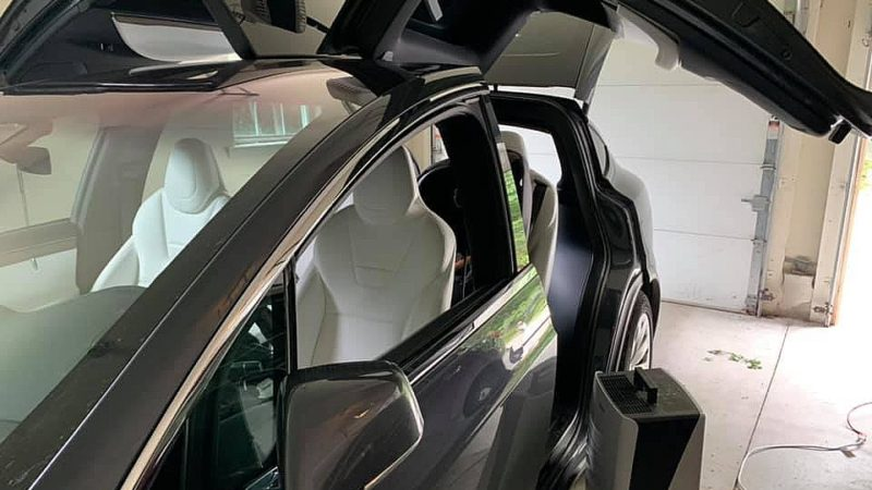 Tesla Model X pays the price after protecting owner from Hurricane Ida's flash floods