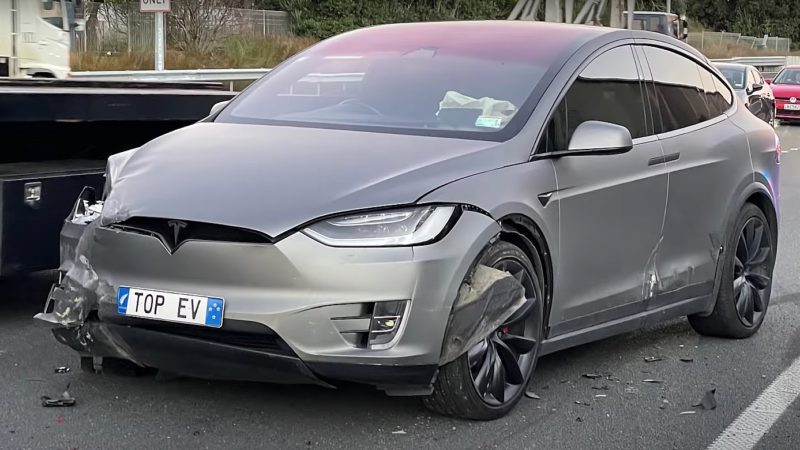 Tesla captures harrowing footage of Model X hunted and attacked by enraged driver